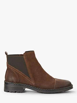 John Lewis & Partners Designed for Comfort Pia Chelsea Boots, Brown Nubuck