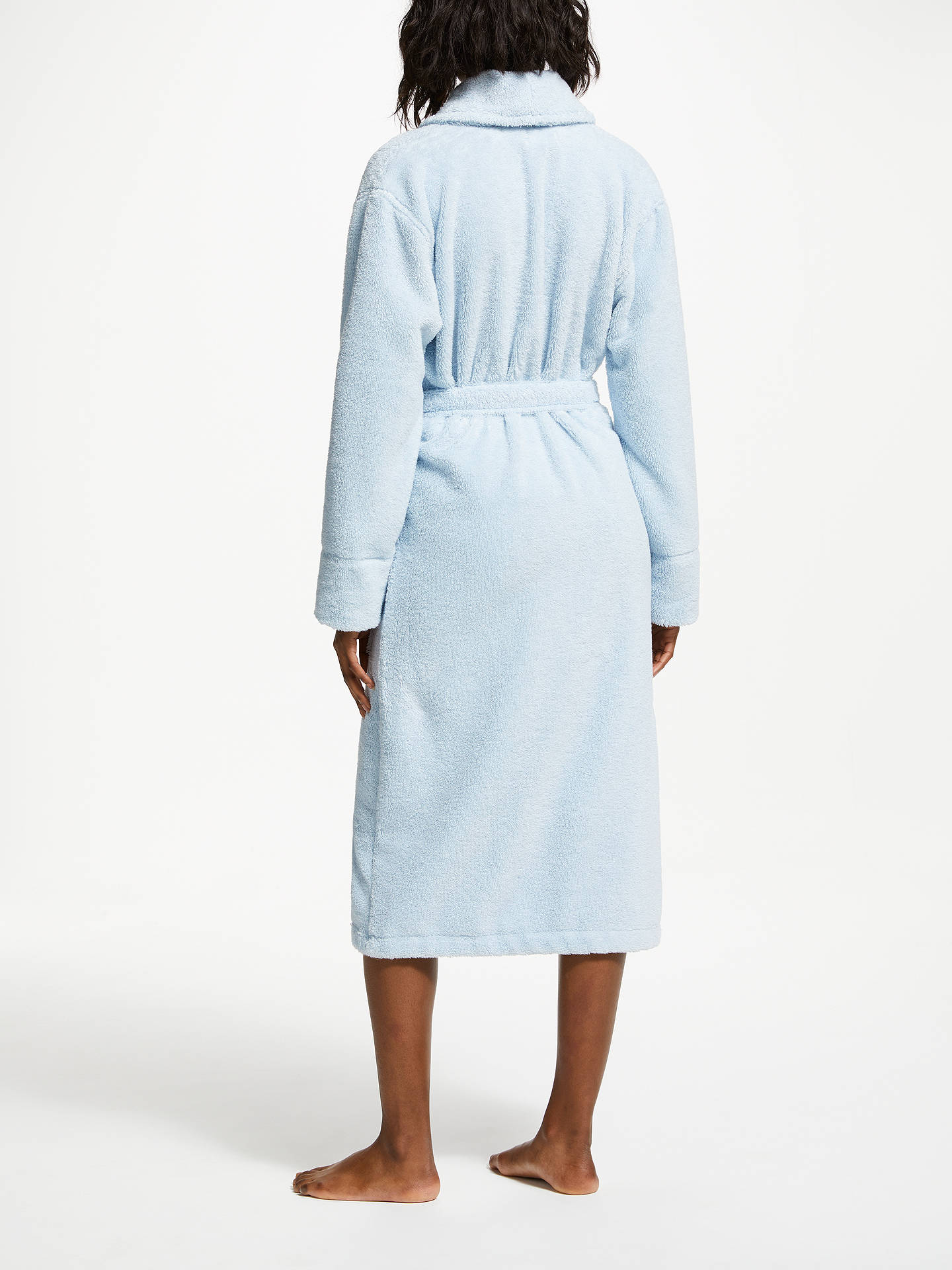 BuyJohn Lewis & Partners Luxury Towelling Robe, Blue, S Online at johnlewis.com
