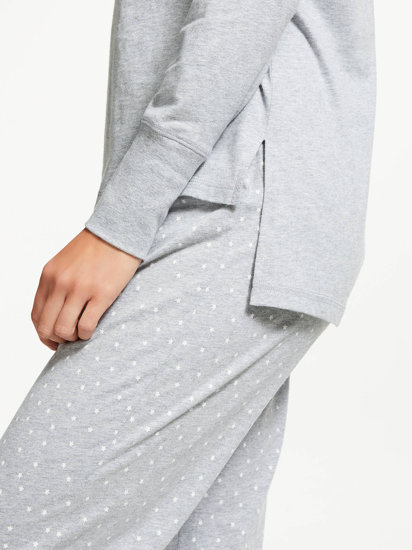 BuyJohn Lewis & Partners Furry Star Pyjama Set, Grey, 8 Online at johnlewis.com