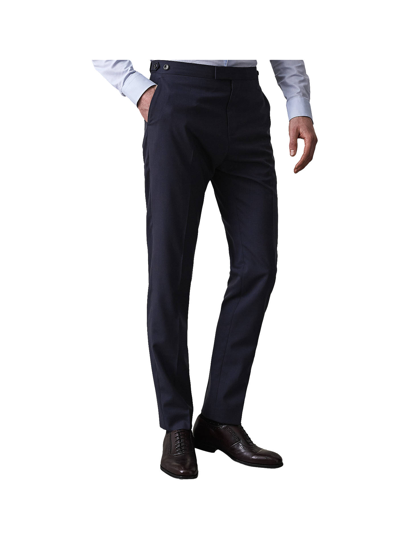 Buy Reiss Voyage Slim Fit Travel Suit Trousers, Navy, 34R Online at johnlewis.com