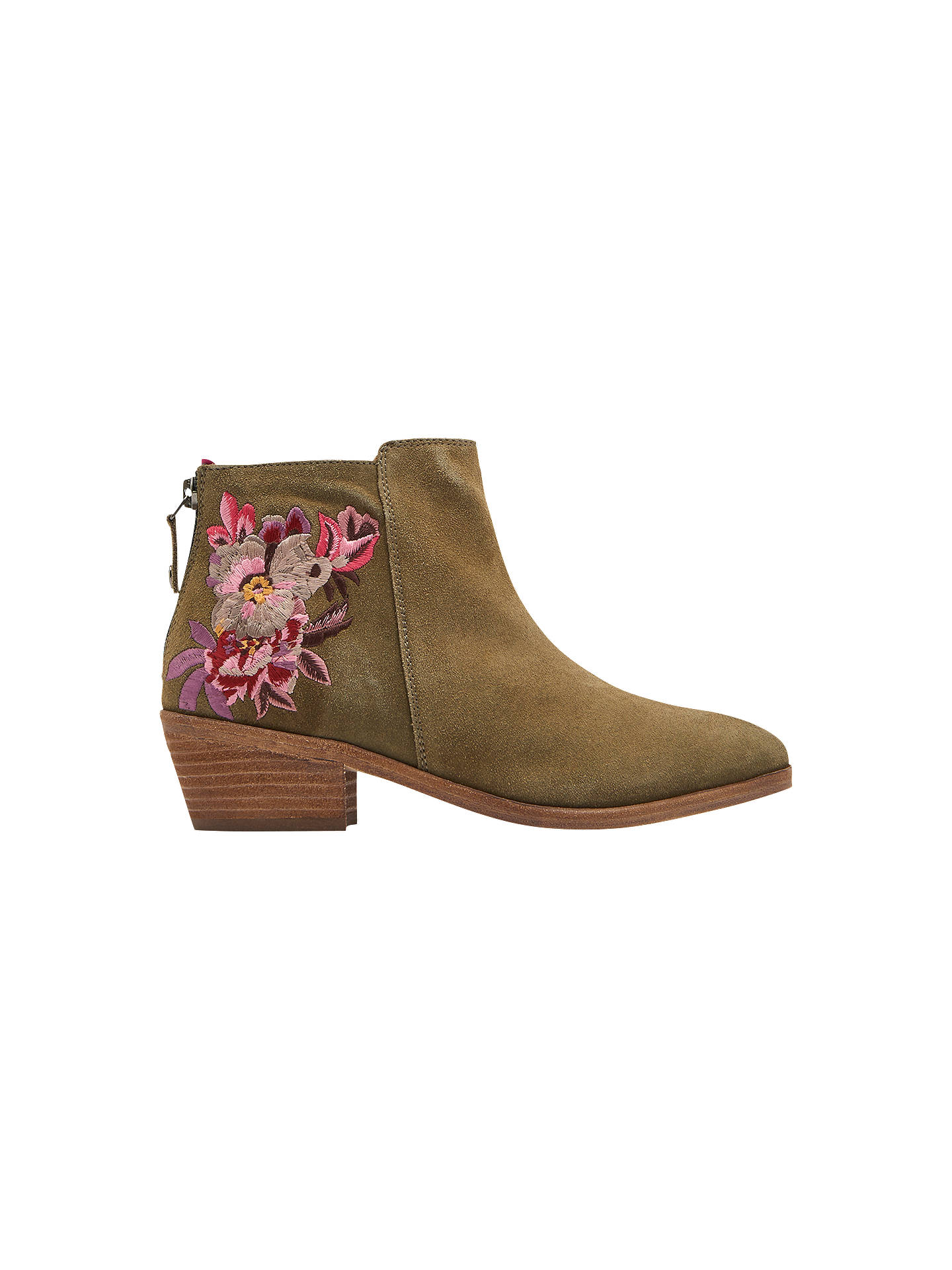 best sell huge inventory run shoes Joules Langham Ankle Boots, Khaki Leather at John Lewis ...