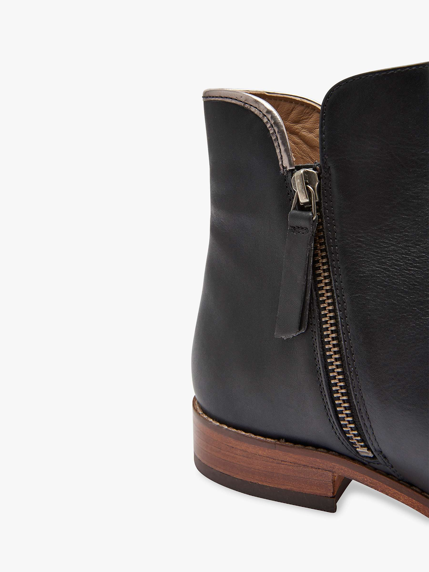 shopping new release fashion styles Joules Westminster Block Heel Ankle Boots, Black Leather