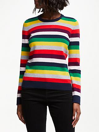 Collection WEEKEND by John Lewis Cashmere Mini Me Christmas Stripe Jumper, Multi