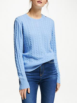 Collection WEEKEND by John Lewis Cashmere Cable Knit Crew Neck Jumper