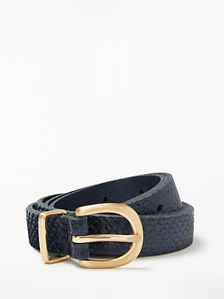 John Lewis & Partners Stella Snake Pattern Jeans Leather Belt