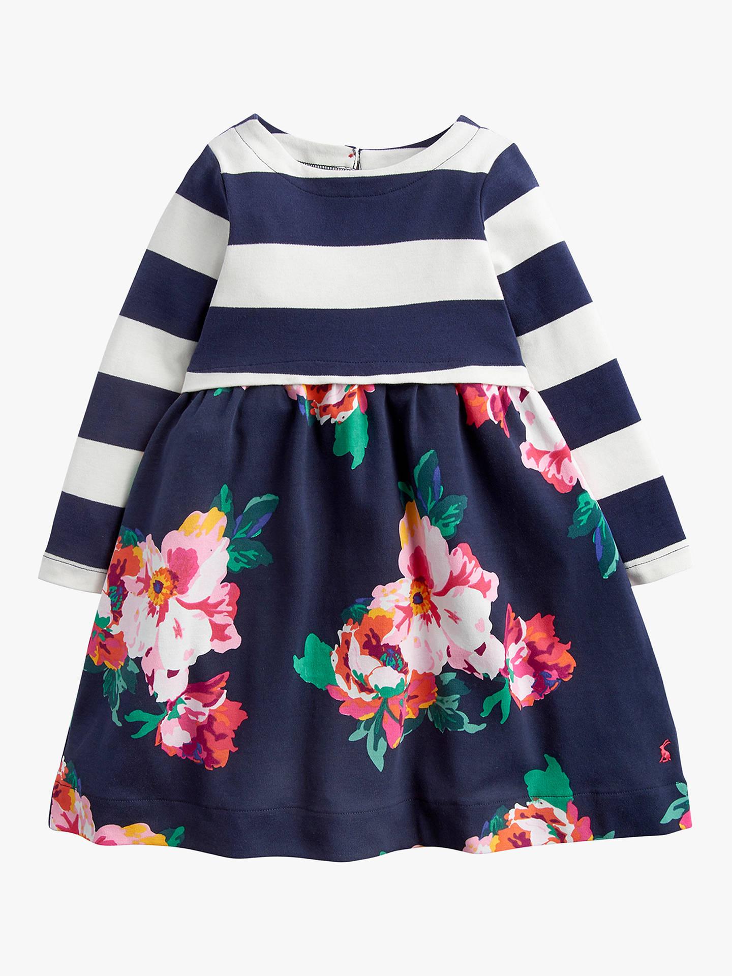 169fada90f02 Buy Little Joule Girls' Layla Stripe Floral Print Dress, Navy, 24 months  Online ...