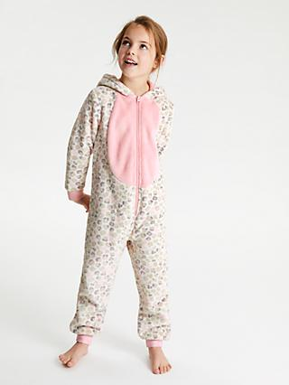 b09d834881 John Lewis   Partners Girls  Animal Print Onesie