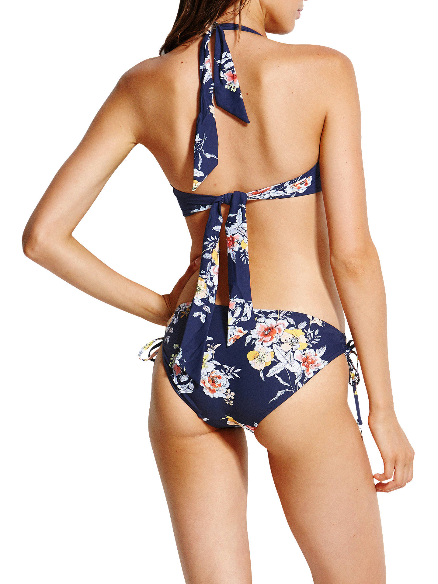 Buy Seafolly Midsummer Floral Bikini Top, Blue, 10 Online at johnlewis.com