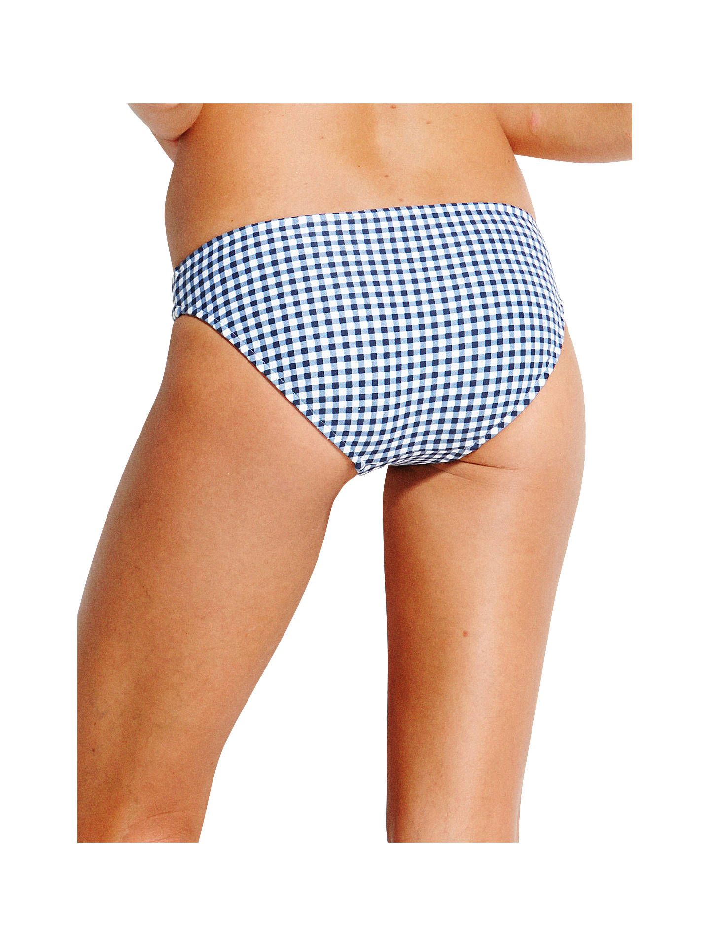 BuySeafolly Capri Check Hipster Bikini Briefs, Blue, 8 Online at johnlewis.com