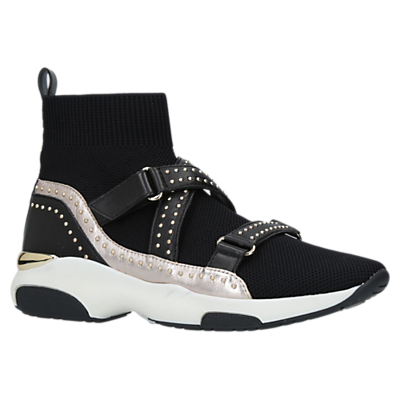 Carvela Kurt Geiger Listen Sock High Top Trainers, Black