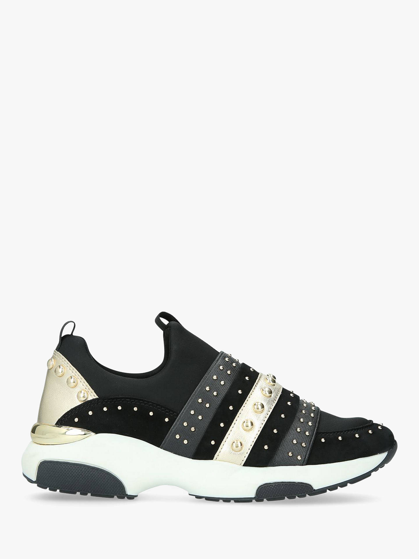BuyCarvela Lucky Stud Embellished Slip On Trainers, Black, 3 Online at johnlewis.com