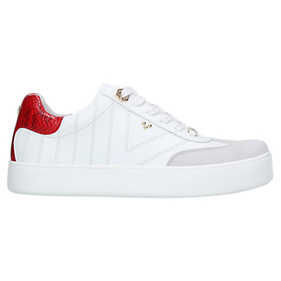 Carvela Kurt Geiger Lost Lace Up Trainers, White Leather