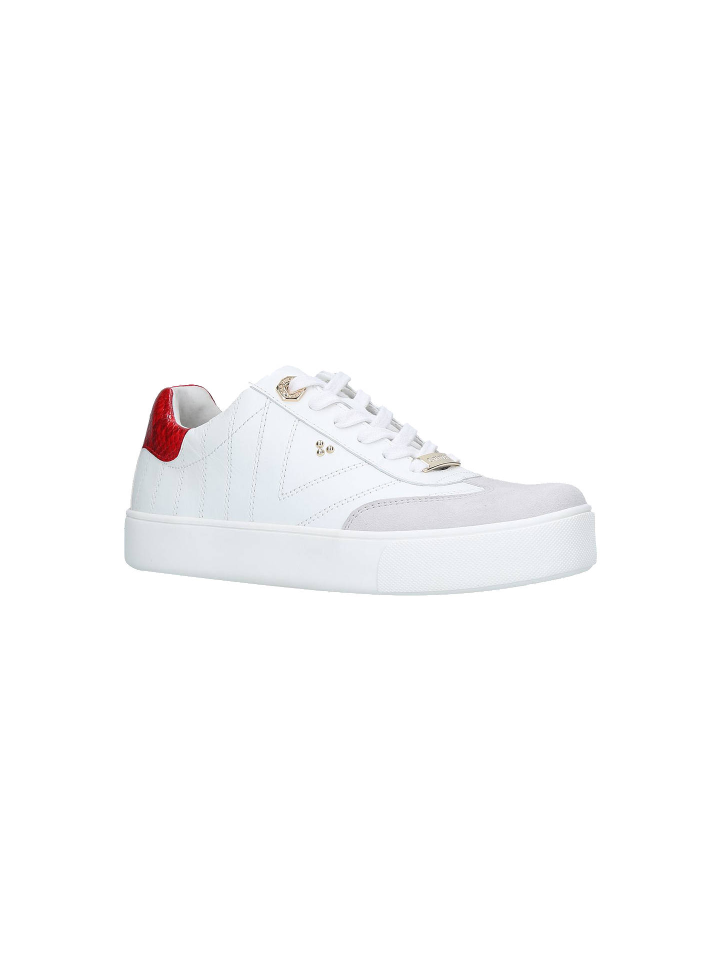 BuyCarvela Lost Lace Up Trainers, White Leather, 3 Online at johnlewis.com