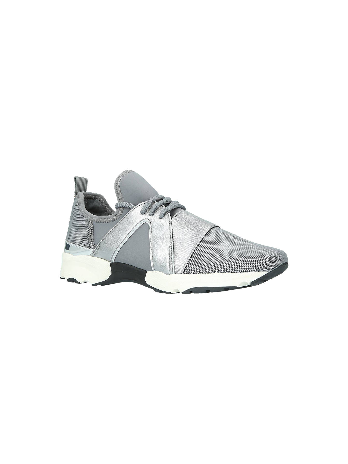 BuyCarvela Lamar Lace Up Trainers, Grey, 3 Online at johnlewis.com