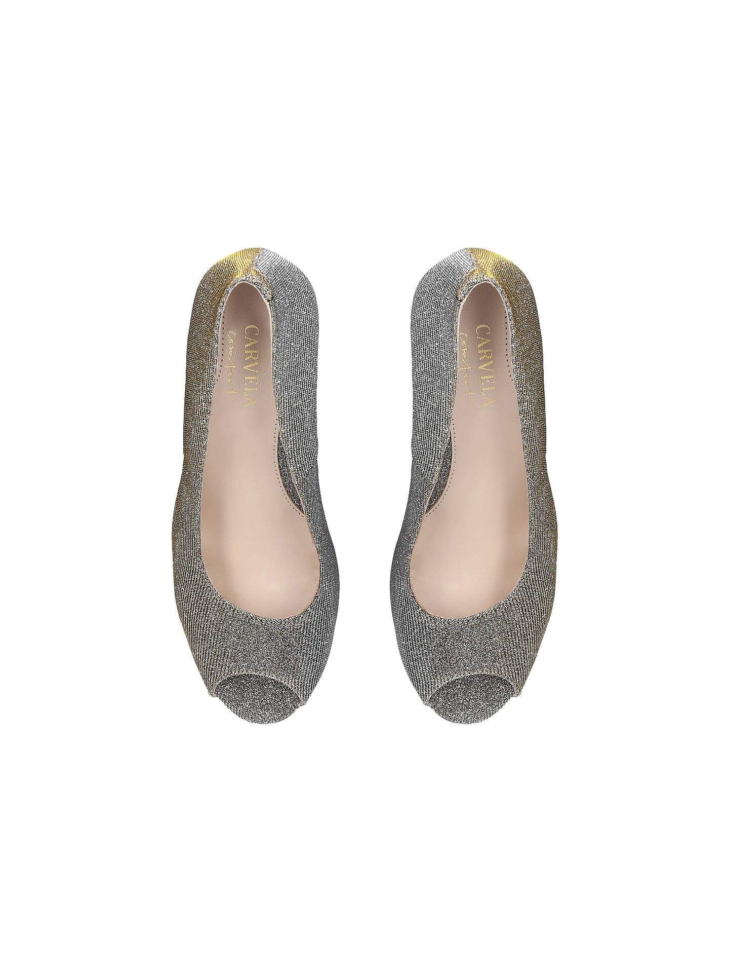 BuyCarvela Comfort Alana Stiletto Court Shoes, Gold Suede, 3 Online at johnlewis.com