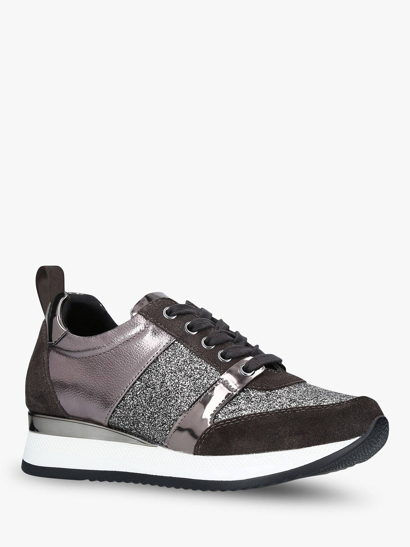 Buy Carvela Justified Trainers, Grey Leather, 3 Online at johnlewis.com