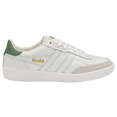 Gola Inca Lace Up Trainers, White Leather