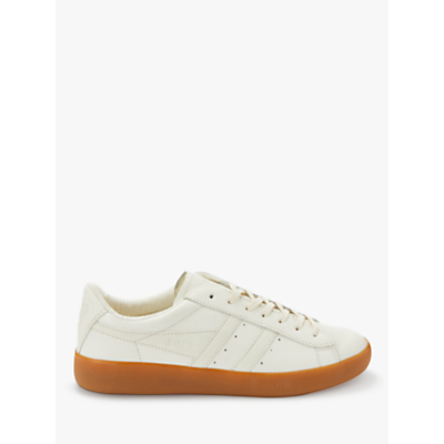 Gola Aztec Lace Up Trainers, White Leather