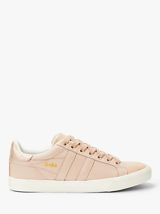 Gola Orchid Shimmer Lace Up Trainers, Pink Leather
