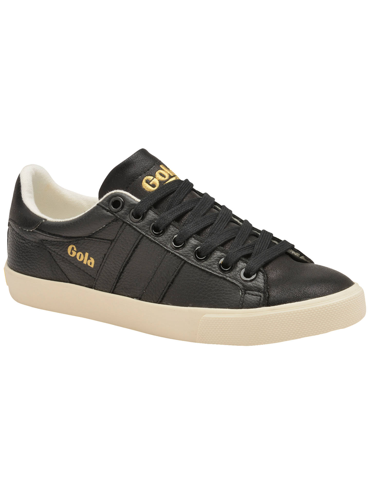 1c9538b74c4 Buy Gola Orchid Shimmer Lace Up Trainers, Black Leather, 3 Online at  johnlewis.