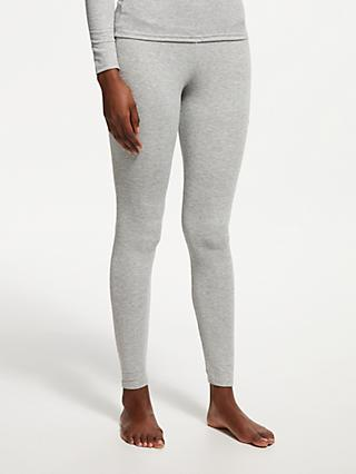 John Lewis & Partners Heat Generating Ribbed Thermal Leggings, Grey