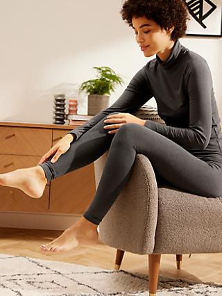 John Lewis & Partners Micro Warmth Thermal Leggings, Grey