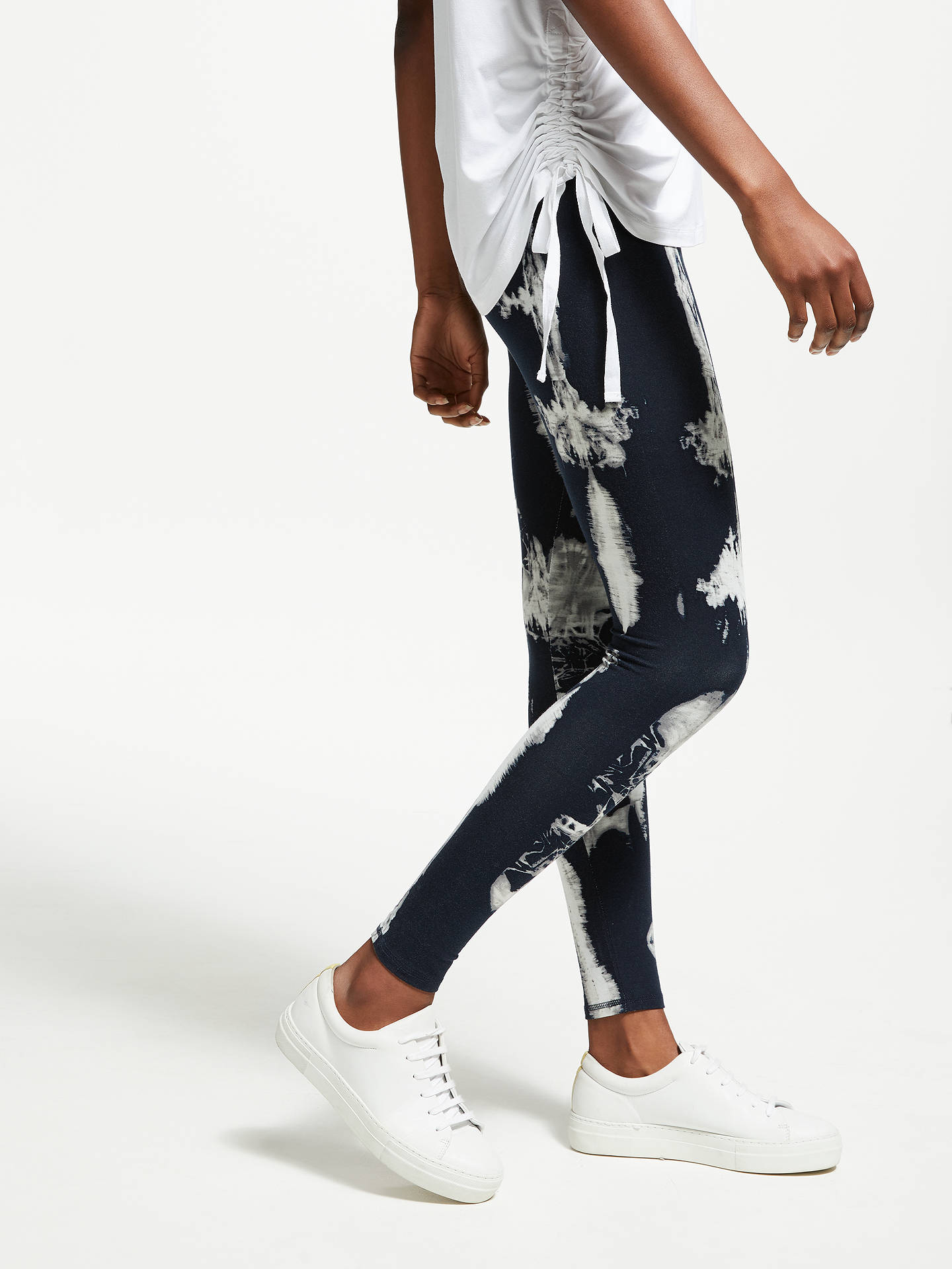 Buy Thought Elsenore Leggings, Navy, 8 Online at johnlewis.com