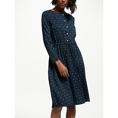 Thought Ditsy Ikat Dress, Navy