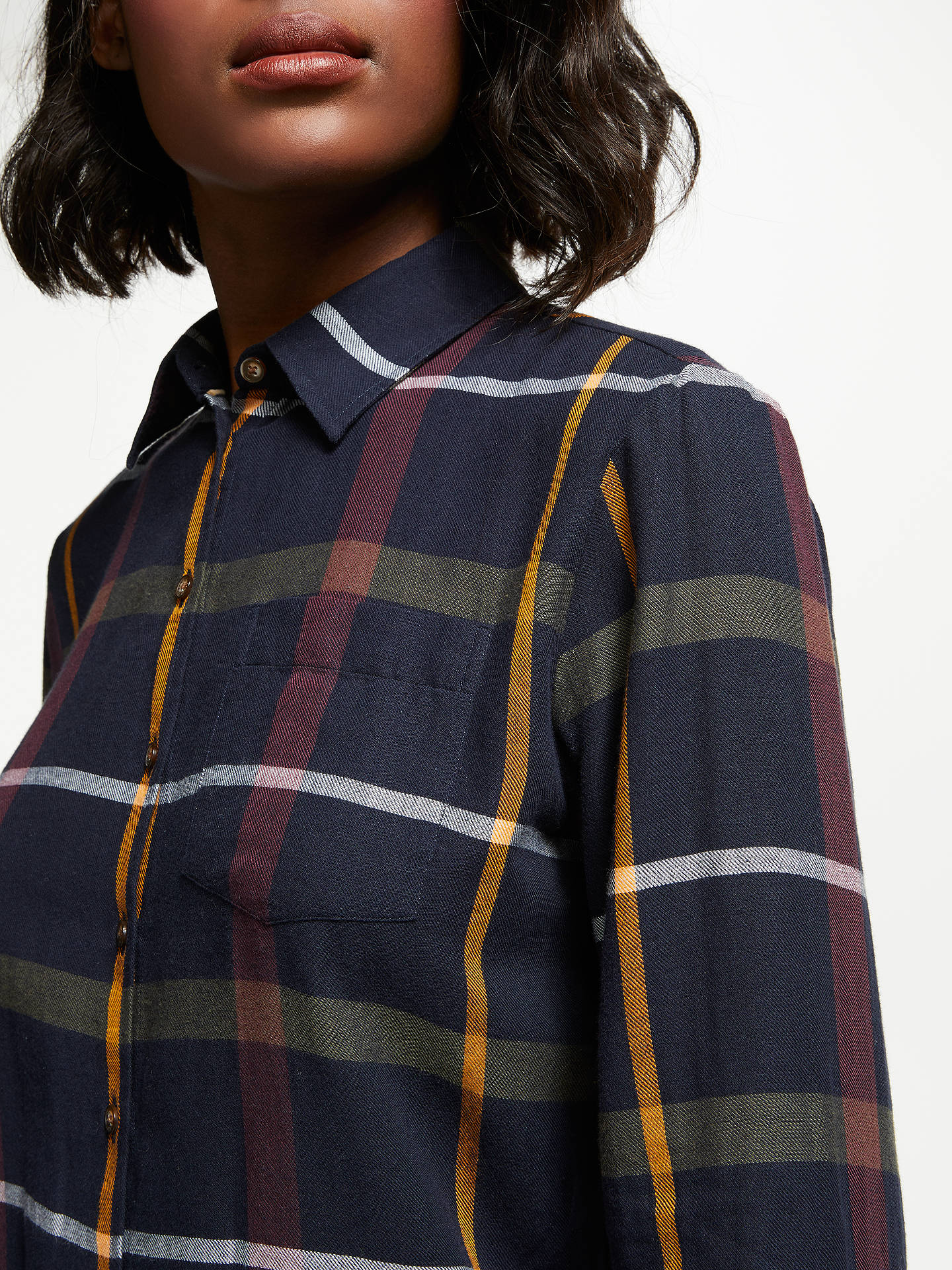 BuyBarbour Oxer Check Shirt, Navy Multi, 8 Online at johnlewis.com