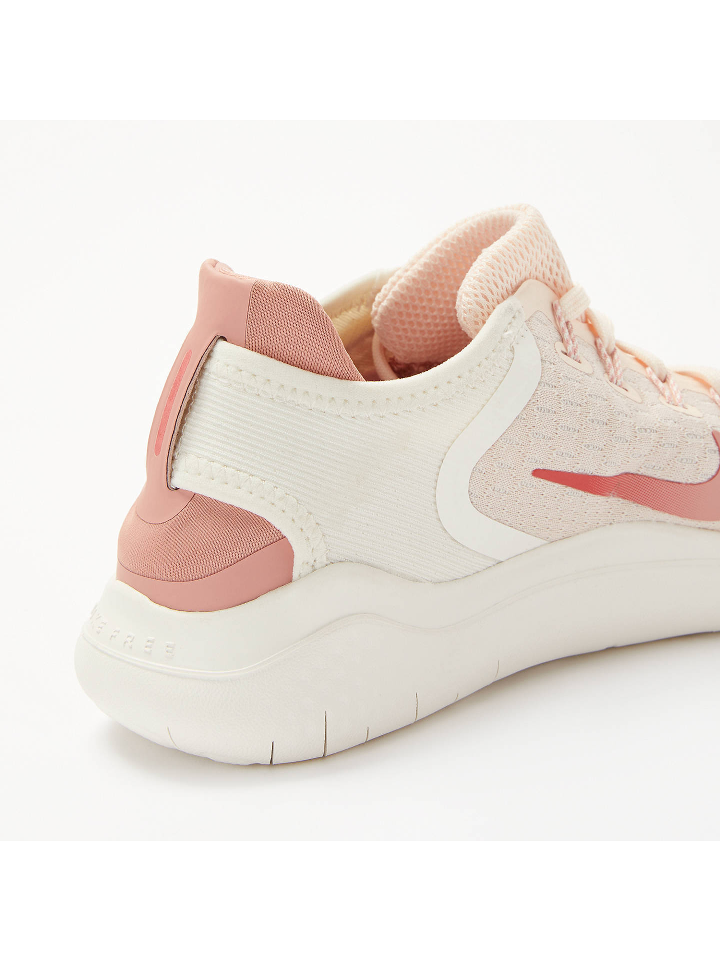 Nike Free RN 2018 Women's Running Shoes, Guava Ice/Rust Pink at John