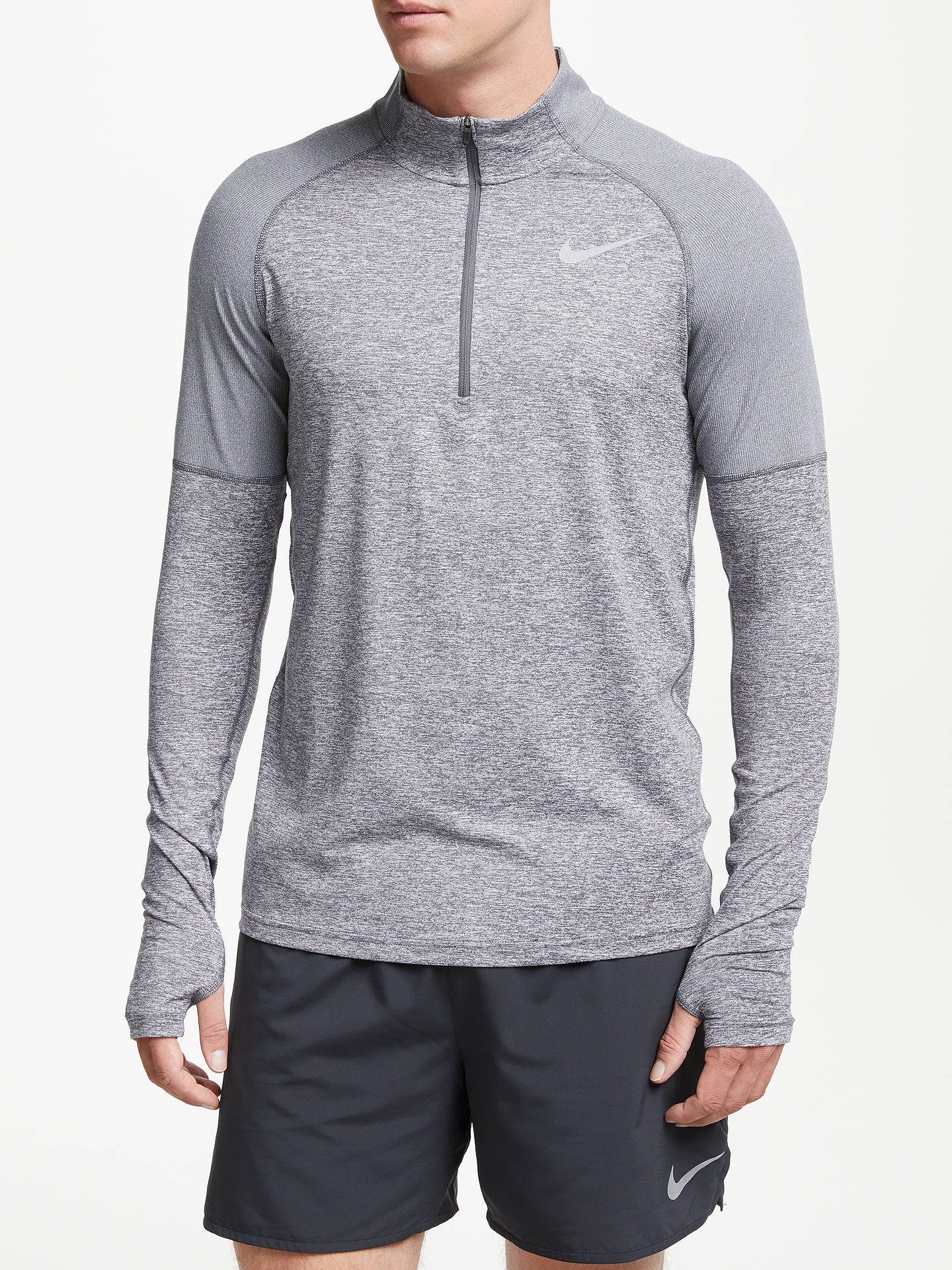 best value ef3cf 88521 Buy Nike Dry Element 1 2 Zip Running Top, Gunsmoke Atmosphere Grey, ...