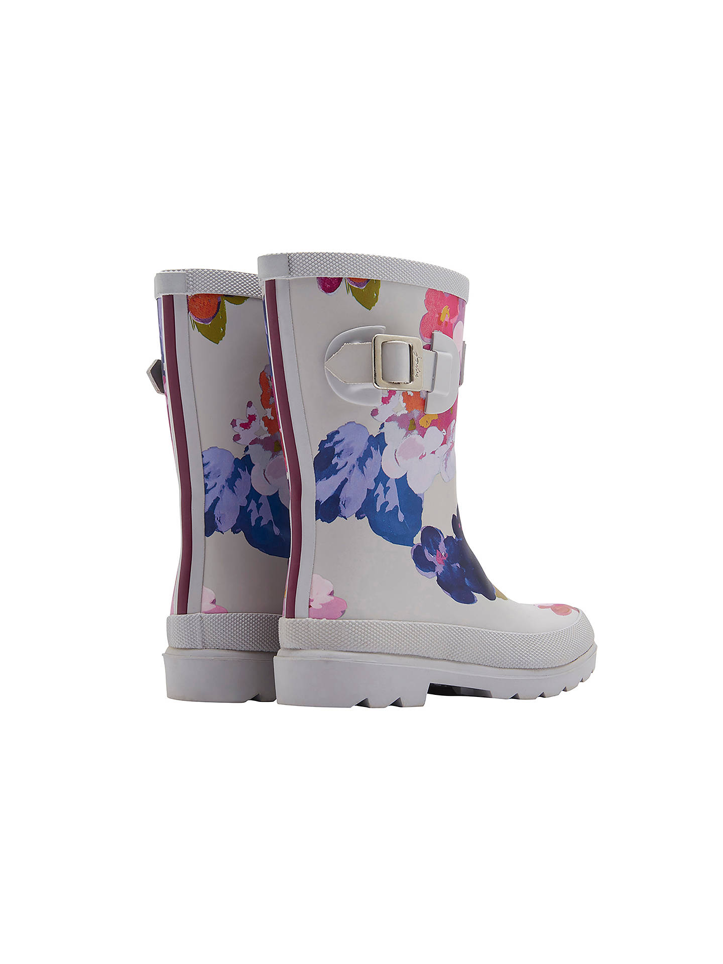 BuyJoules Children's Floral Wellington Boots, Grey, 2 Online at johnlewis.com