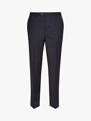 Hackett London Windowpane Check Tailored Suit Trousers, Navy