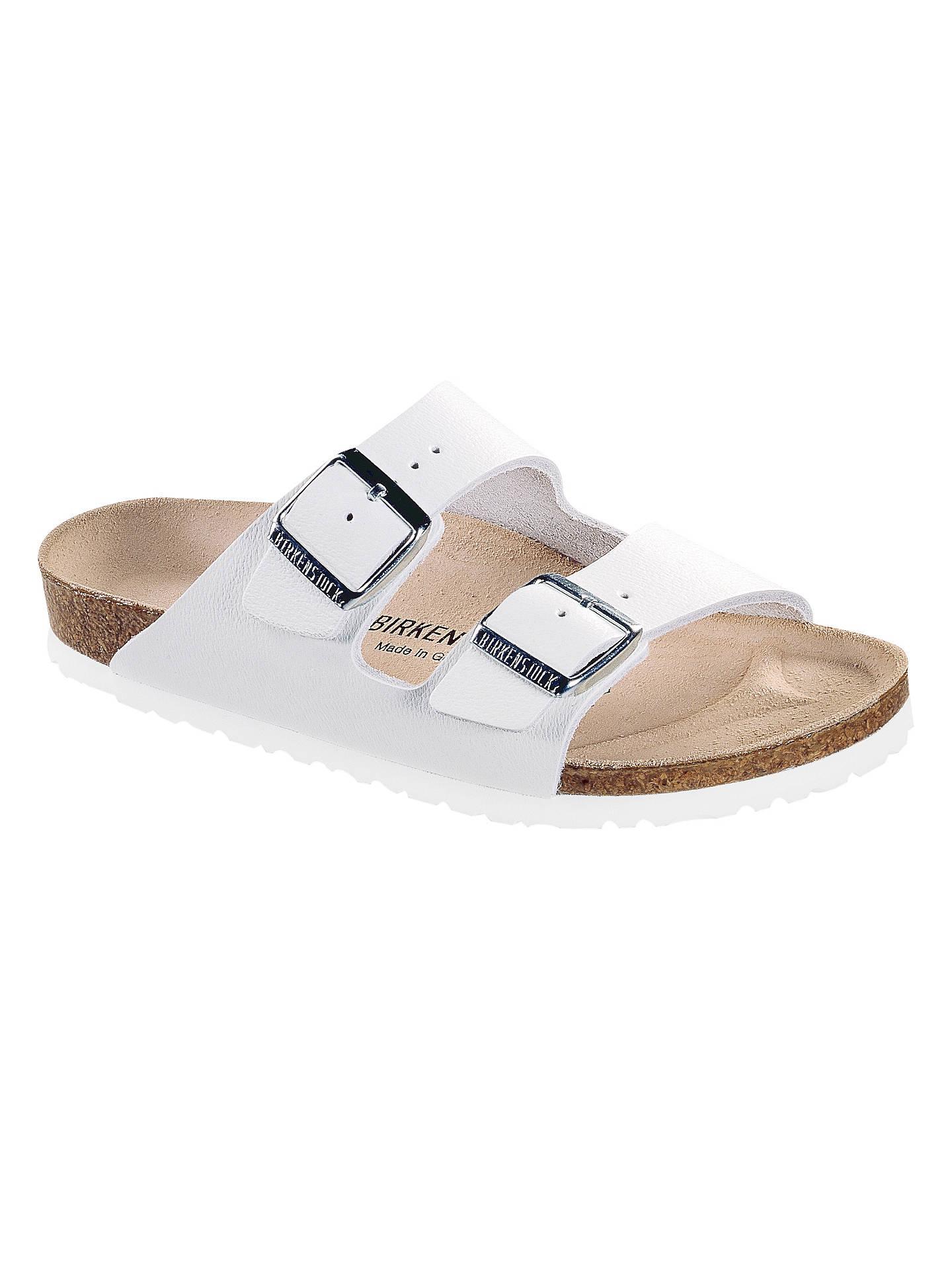 791a62d4b Buy Birkenstock Arizona Double Strap Slider Sandals, White Leather, 3  Online at johnlewis.