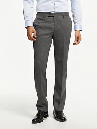 Hackett London Textured Wool Blend Tailored Trousers