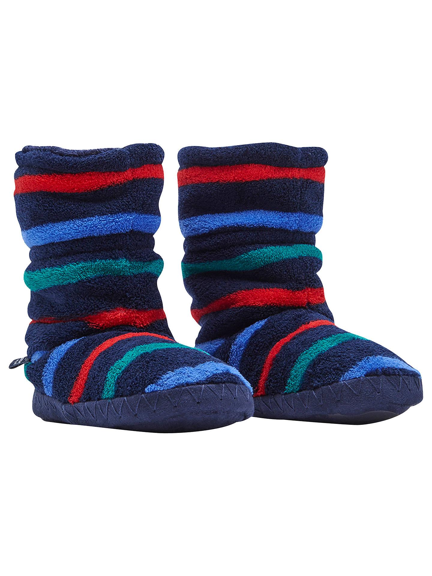 Joules jnr slipper sock cream multi stripes
