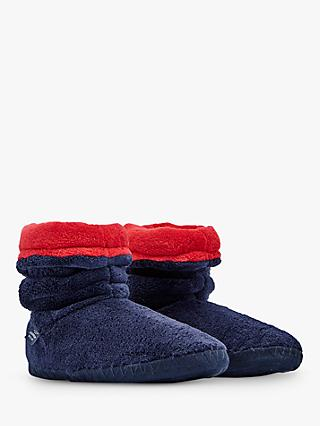 Baby Joule Padabout Ankle Slippers, Navy