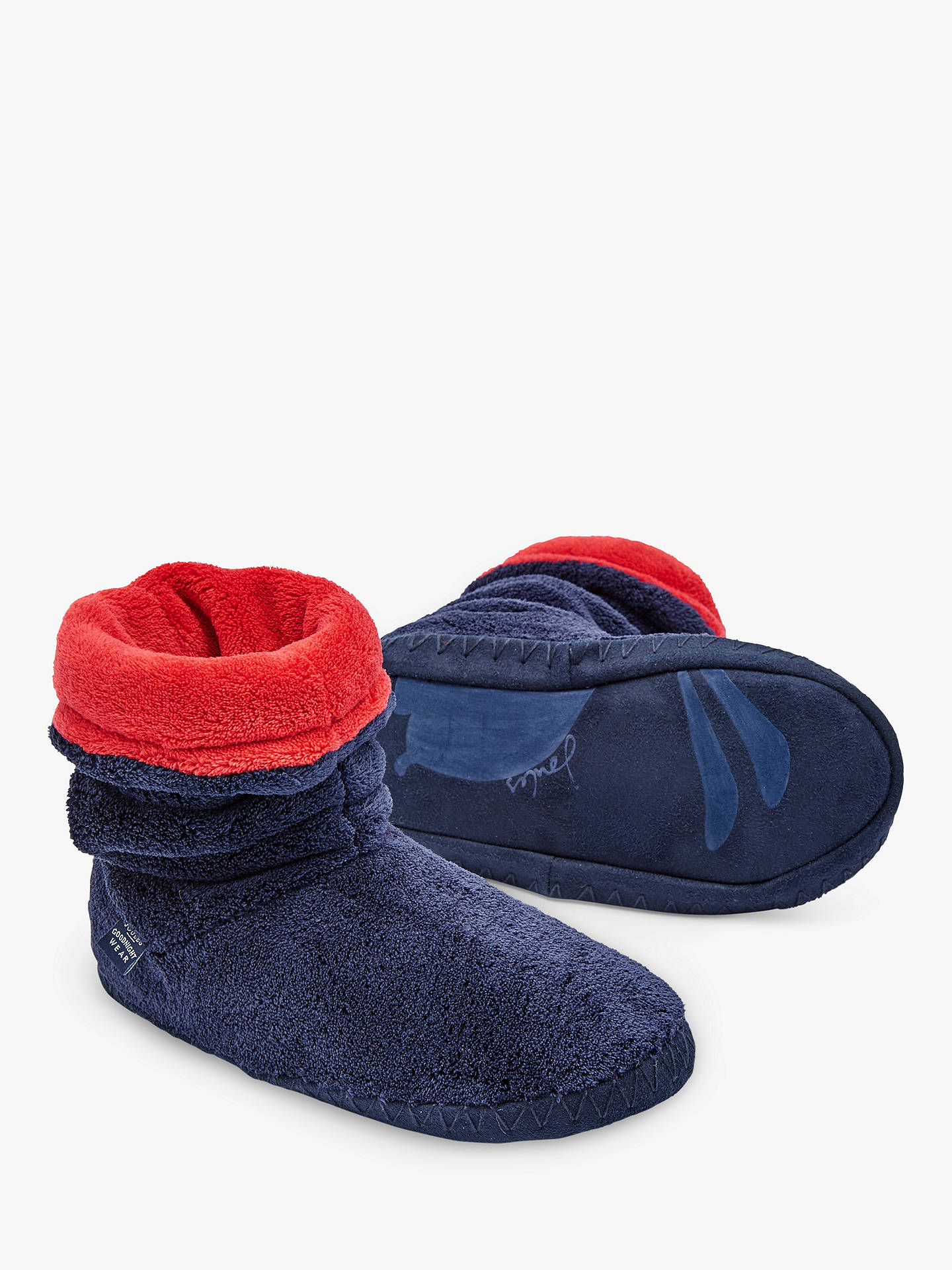 BuyBaby Joule Padabout Ankle Slippers, Navy, M Online at johnlewis.com