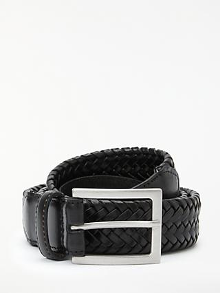 John Lewis & Partners Weave Belt, Black