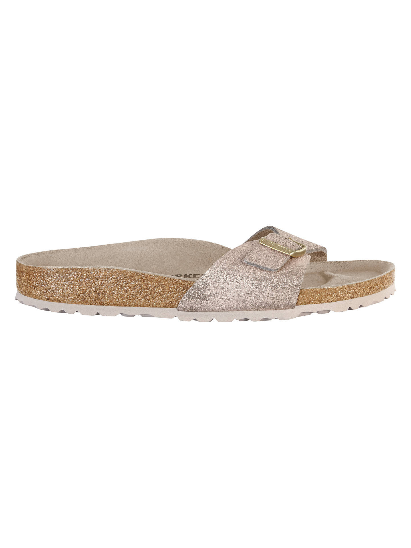 Buy Birkenstock Madrid Slip On Sandals, Rose Gold Suede, 7 Online at johnlewis.com