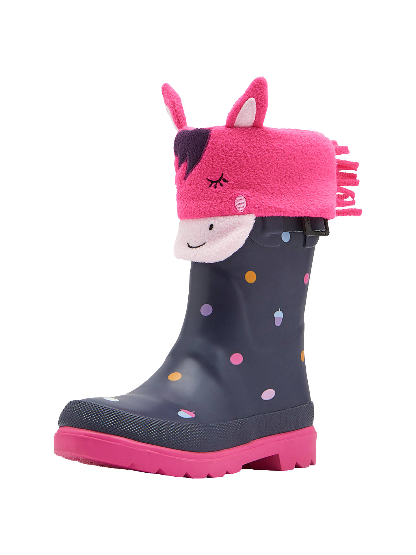 Buy Baby Joule Welly Socks, Pink, 12 Jnr-3 Online at johnlewis.com