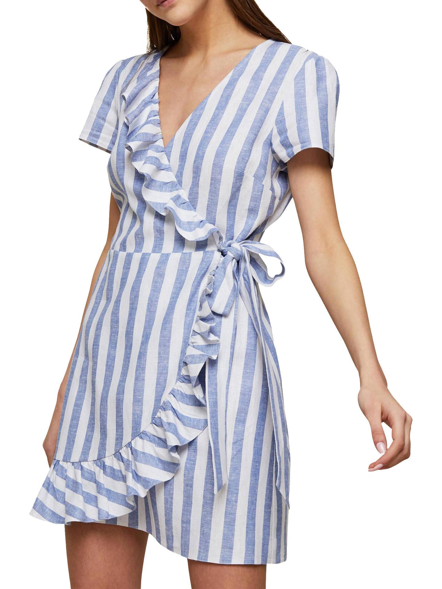 3868ed4d6505 Buy Miss Selfridge Petite Striped Wrap Dress