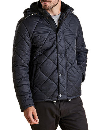 Buy Barbour Land Rover Defender Holbmy Quilted Jacket, Navy, XL Online at johnlewis.com