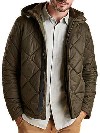 Buy Barbour Land Rover Defender Holbmy Quilted Jacket, Green, S Online at johnlewis.com