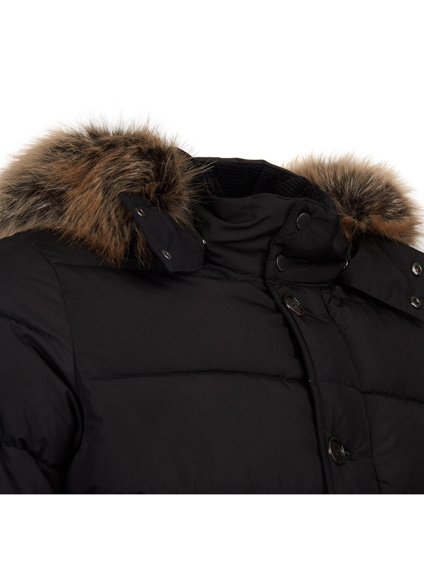 BuyBarbour Fusta Baffle Quilted Jacket, Black, XL Online at johnlewis.com