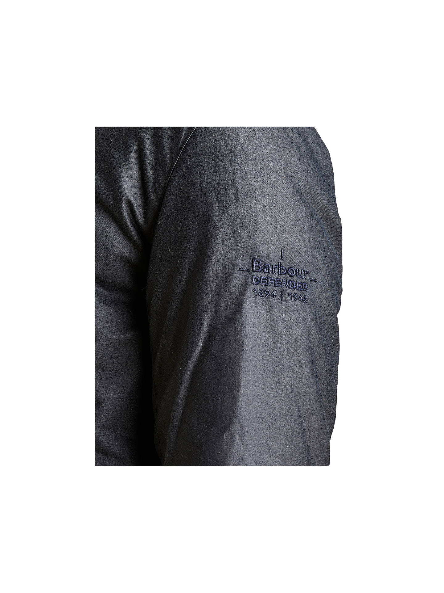 BuyBarbour Land Rover Defender Eden Quilted Jacket, Blue, M Online at johnlewis.com