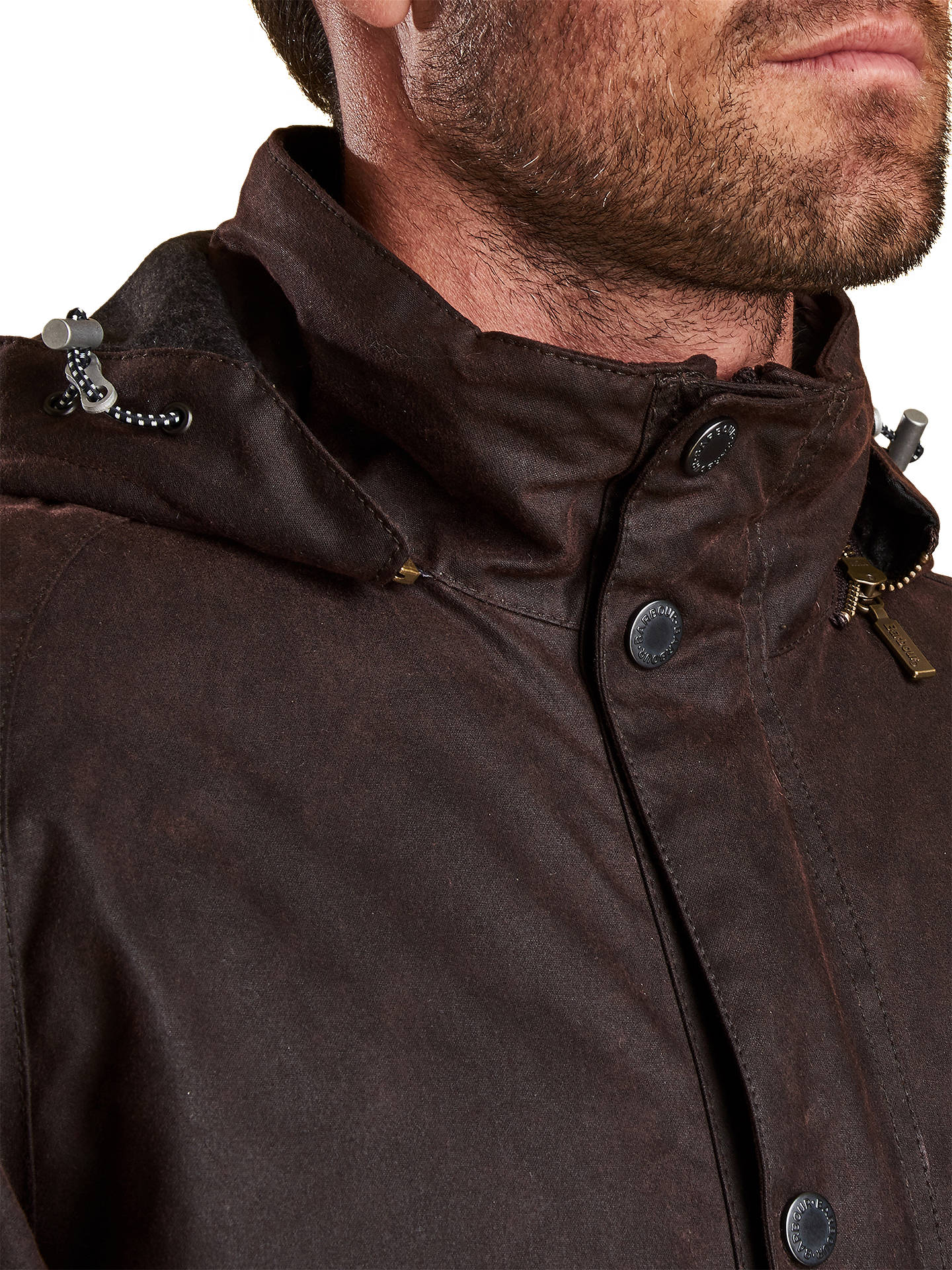 BuyBarbour Land Rover Defender Grinton Wax Jacket, Brown, XL Online at johnlewis.com