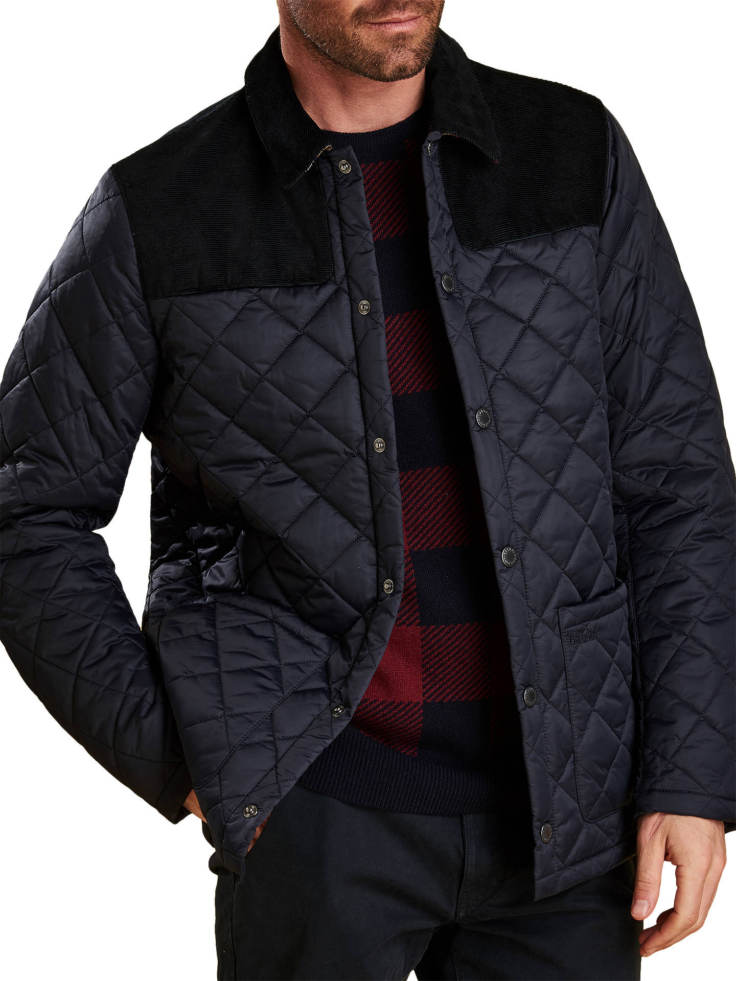 BuyBarbour Gillock Quilted Jacket, Blue, M Online at johnlewis.com