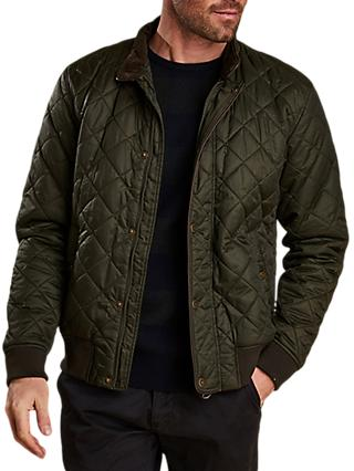 Barbour Edderton Quilted Blouson Jacket, Green