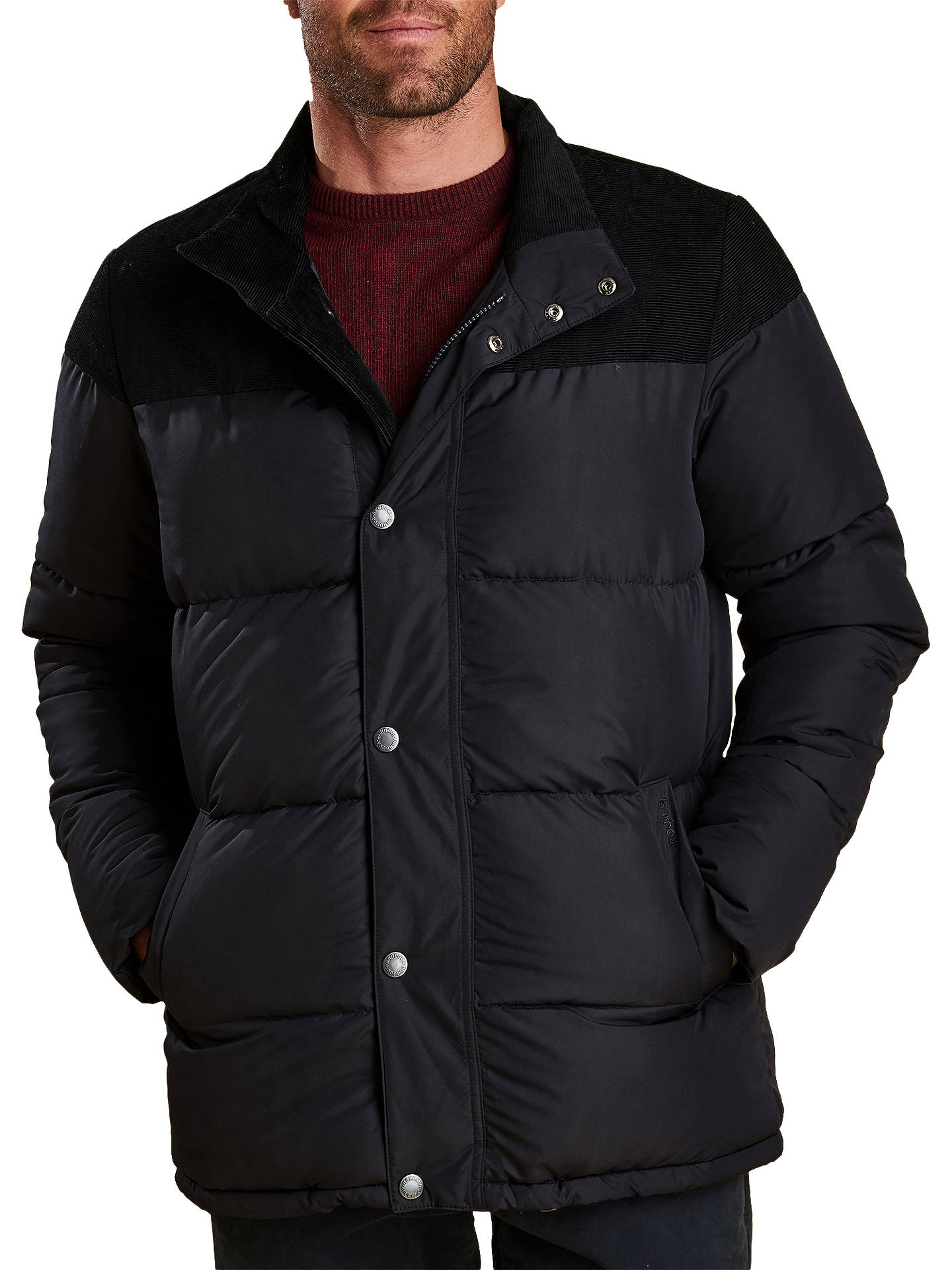 BuyBarbour Spean Puffer Jacket, Navy, M Online at johnlewis.com